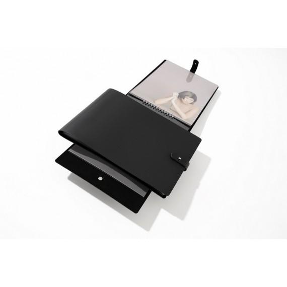 BOOK SPIRALE MODULABLE PAMPA NOIR PAYSAGE 3021 cm ET 10 POCHETTES 508