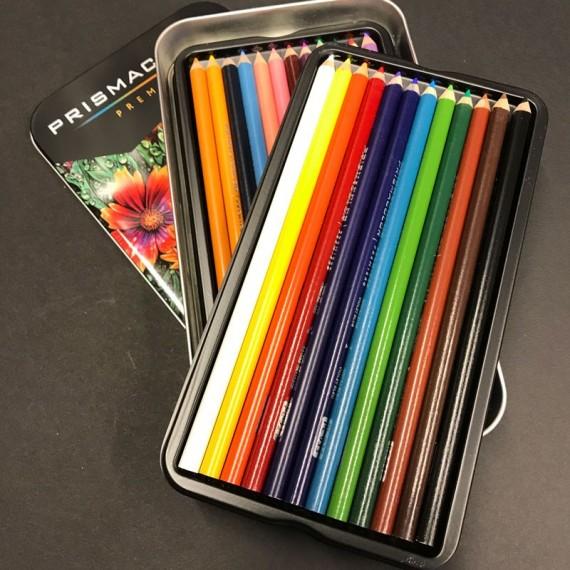 Boite crayon de couleur PRISMACOLOR - 24 Crayons assortis