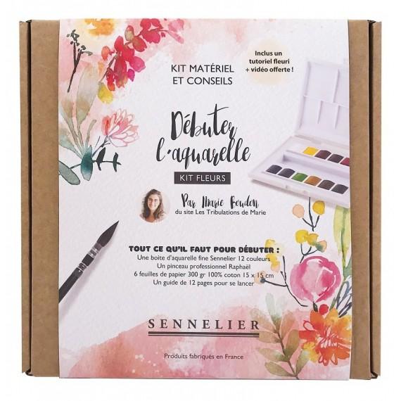 Set aquarelle SENNELIER Marie Boudon - Fine - 12 1/2 godets - Fleurs