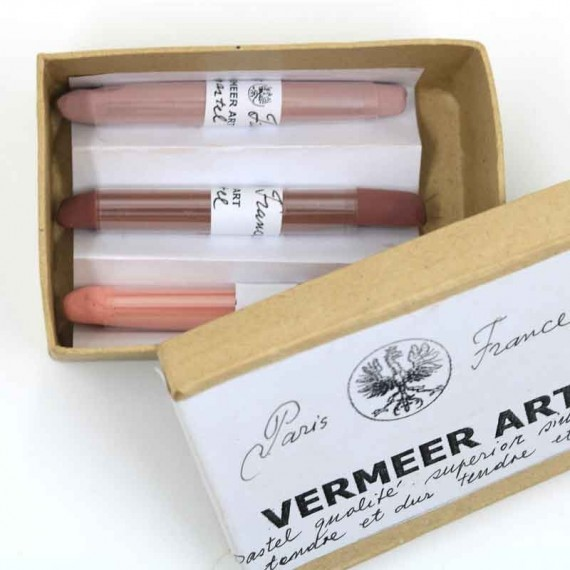 Boite pastel sec VERMEER - 3 pastels assorties  - (Carton)
