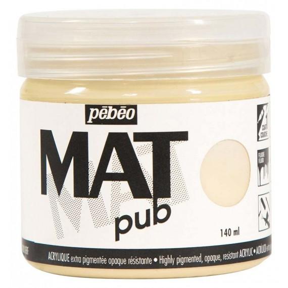 Peinture acryliquePebeo Mat Pub  acrylique Pebeo Mat Pub:ivoire beige