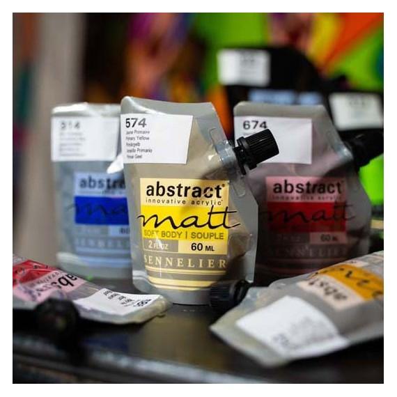 Peinture acryliqueSennelier Abstract mat  Couleurs:blanc de titane