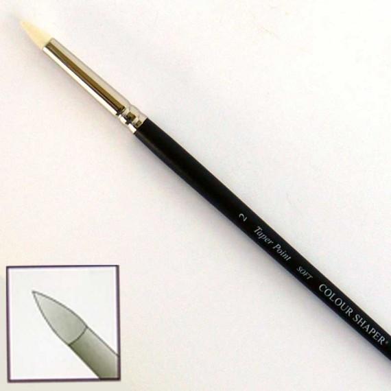 """Silicone brush black hard """"Colour Shaper""""   Forme:Conique"""
