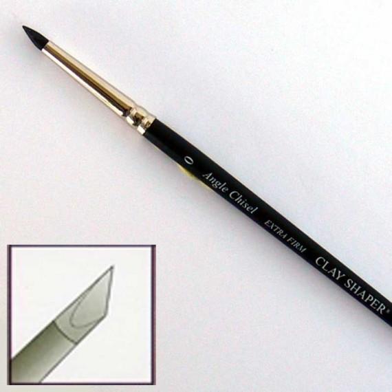 """Pinceau en silicone extra-ferme """"Colour Shaper""""  Forme:Biseauté effilé"""