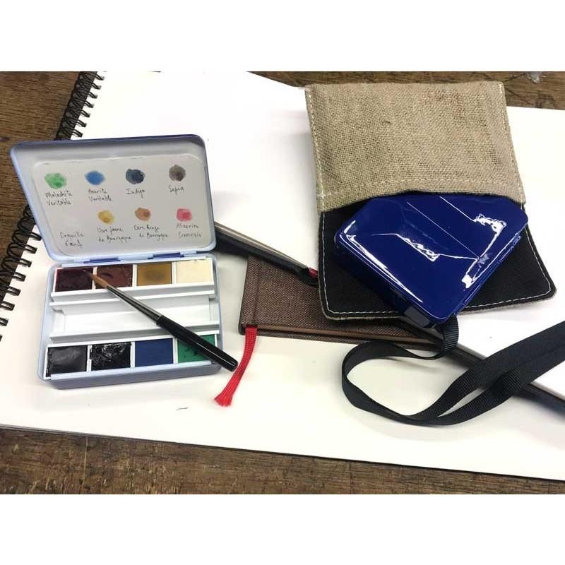 """Watercolor box 81 /2 pans collection """" Quai Voltaire"""""""