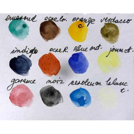 """Watercolor box 12 1/2  pans collection """" Quai Voltaire"""""""