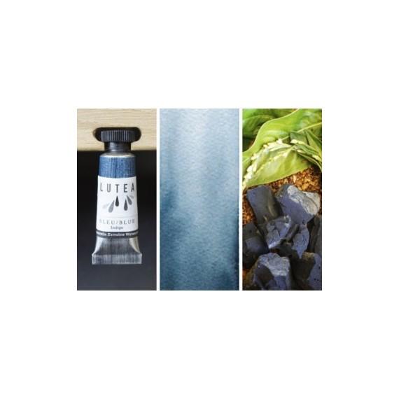 Aquarelle LUTEA   Couleur Luthea:bleu indigo / indigo blue
