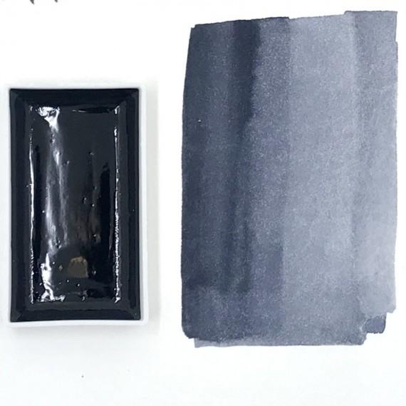 Aquarelle encre E-ZUMI - Peinture japonaise  - Godet Gansai - Noir teinté EZUMI:Noir bleu