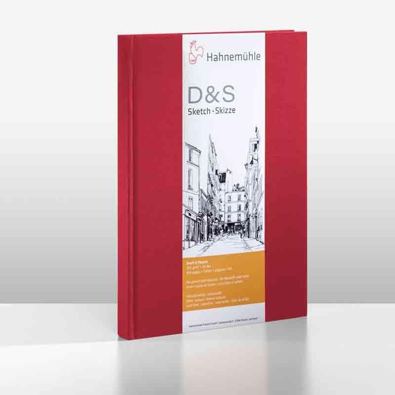 Album dessin  HAHNEMUHLE D&S - 140g (80f) - F:21 x 29,7 cm - Couverture....Relié  Couverture:Rouge reliure:PORTRAIT