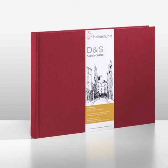 Album dessin  HAHNEMUHLE D&S - 140g (80f) - F:21 x 29,7 cm - Couverture....Relié  Couverture:Rouge reliure:PAYSAGE