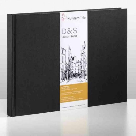 Album dessin  HAHNEMUHLE D&S - 140g (80f) - F:21 x 29,7 cm - Couverture....Relié  Couverture:Noir reliure:PAYSAGE