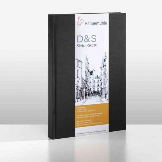 Album dessin  HAHNEMUHLE D&S - 140g (80f) - F:29,7 x 42 cm - Couverture...Relié  reliure:PORTRAIT