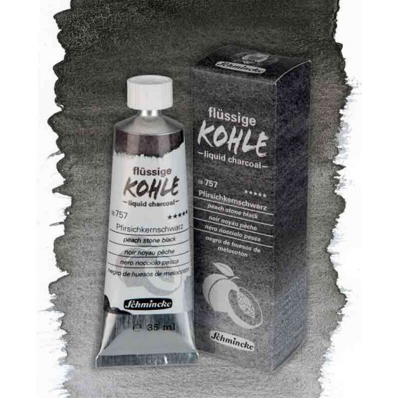 Schmicke liquid charcoal teintes:noir noyau de peche