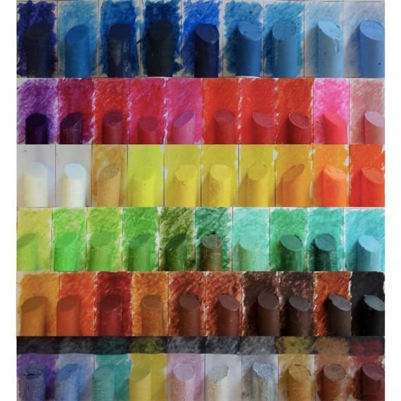 PASTEL CIRE D'ABEILLE LA PIECE à l'huile Artisan pastellier:bleu clair