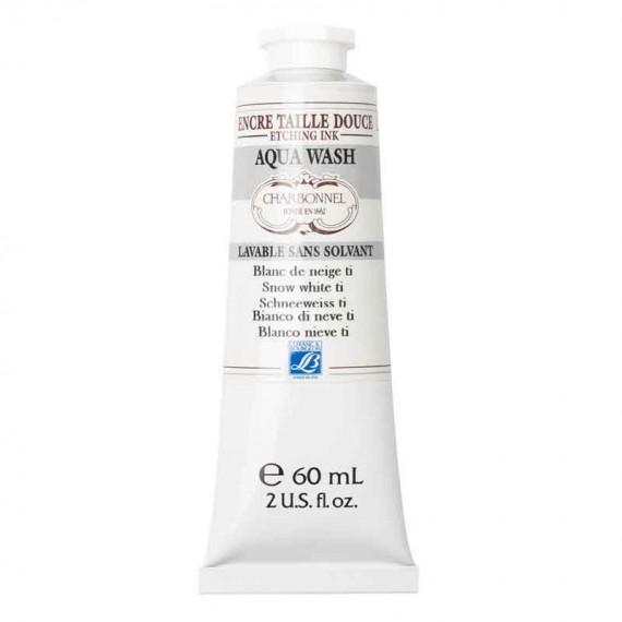 Encre gravure CHARBONNEL Aqua wash - Tube: 60 ml - Série 1  Charbonnel aqua wash:Blanc neige
